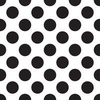 nahtlose Muster mit weißen und schwarzen Erbsen (Tupfen). vektor