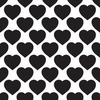 Einfarbiges nahtloses Muster mit Herzen