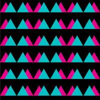 Nahtloses abstraktes Muster der Weinlese mit Dreiecken im Stil der achtziger Jahre.