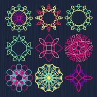 Runda geometriska ornament vektor
