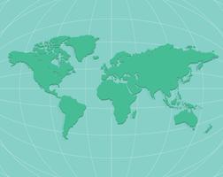 Weltkarte auf der ganzen Welt