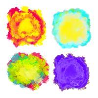 Set med mångfärgade stänk för design