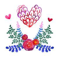 Set schöne Aquarellblumen