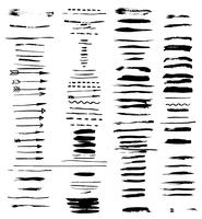 grunge penselsträckor. vektor