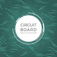 Flat Print Circuit Vector Bakgrund