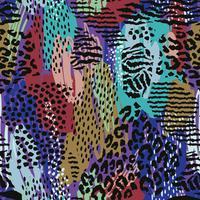 Abstraktes nahtloses Muster mit Tierdruck. Trendy handgezeichnete Texturen. vektor