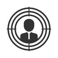 Zielmarketing-Symbolsymbole vektor
