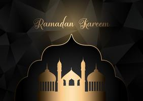 Niedriger Poly Ramadan Kareem Hintergrund vektor