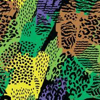 Abstraktes nahtloses Muster mit Tierdruck.