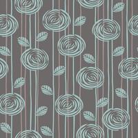 Abstrakt blommönster sömlöst mönster med rosor. vektor