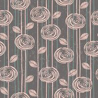 Abstraktes nahtloses mit Blumenmuster mit Rosen. vektor
