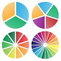 Lokalisierte Vektorillustration der Kreisdiagrammgruppe vektor
