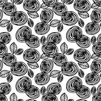 Abstrakt blommönster sömlöst mönster med rosor. Trendiga handdragen texturer. vektor