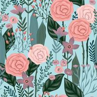 Blommigt sömlöst mönster. Vektor design.
