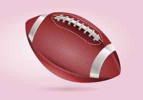 Realistische ausführliche Fußball-Vektor-Illustration