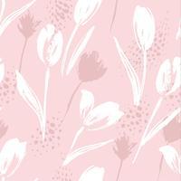 Abstrakte nahtlose Mustertulpen mit Blumen. vektor