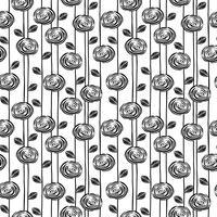 Abstraktes nahtloses mit Blumenmuster mit Rosen. Trendy handgezeichnete Texturen. vektor