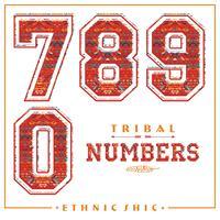 Tribal etniska nummer för t-shirts, affischer, kort och andra användningsområden.