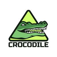 alligator krokodil logotyp vektor