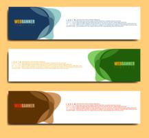 abstrakt banderollsmall vektor