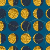 Abstraktes kosmisches nahtloses Muster. Modische Hand gezeichnete Beschaffenheit, Funkeln und geometrische Elemente.