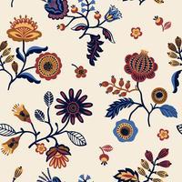 Folk floral nahtlose Muster. vektor