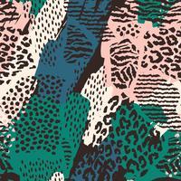 Abstrakt sömlöst mönster med djurtryck.