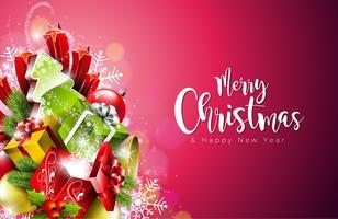 Frohe Weihnachten und Happy New Year Illustration vektor