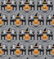 Halloween bakgrund. Sömlöst mönster.