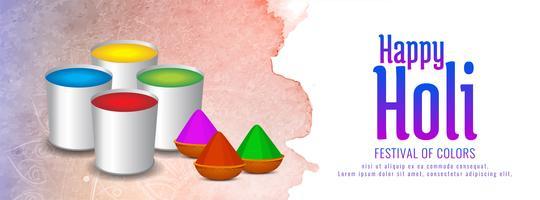 Abstrakt Glad Holi färgstark festivalen banner design vektor