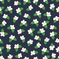 Blom- abstrakt sömlös mönster. vektor