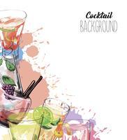 Vektor bakgrund i skiss stil med alkohol drycker.