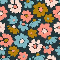 Blommigt sömlöst mönster.
