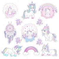 Vackert unicornhuvud och inskription är unika med stjärnor illustration