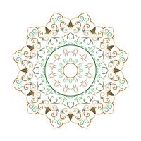 Dekorative Elemente der Blumen-Mandala-Weinlese