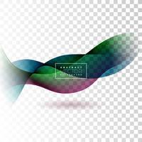 Abstraktes Wellen-Design auf transparentem Hintergrund