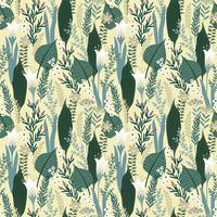 Blommigt sömlöst mönster. Vektor design för olika ytor.