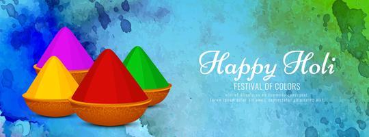 Abstrakte indische Festival Holi Fahnenschablone vektor