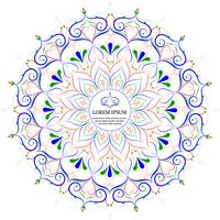 Flower Mandala Vintage dekorativa element
