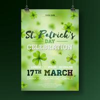 St Patrick's Day Party Flyer Illustration