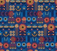 Folk floral nahtlose Muster. Modernes abstraktes Design.