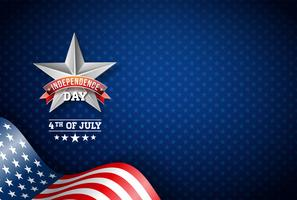 Vektor-Illustration des Unabhängigkeitstags (USA)