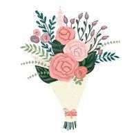 Vektorillustrationsblumenstrauß der Blumen. vektor