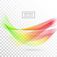 Abstrakt vågdesign på genomskinlig bakgrund