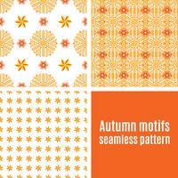 Stellen Sie orange abstraktes nahtloses Muster ein