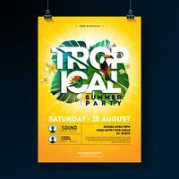 Tropische Sommerfest Flyer Design vektor