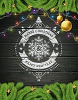 God jul och gott nytt år illustration