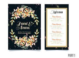 bröllop, spara datuminbjudan, RSVP och tack kort.