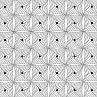 svartvitt geometriskt mönster vektor