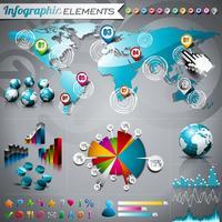 Vektorteknologi stilad illustration med blank pda-enhet och pekersats.